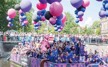 アムステルダムのプライドパレード